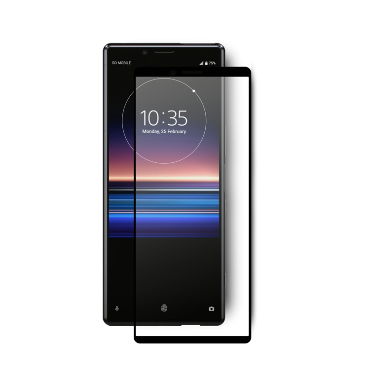 2019 Vmax new designed Free Sample 9H 3D Curved Tempered Glass Screen Protector For for sony xperia <strong>1</strong>