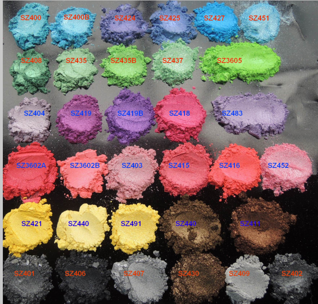 Cosmetic Pearl Pigment Mica Powder for ink,soap making,bath bomb,epoxy resin