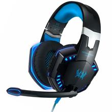 Super Bass Game Headphone Stereo Over-Ear Gaming Headset Headband Earphone with Led Light for PC Gamer