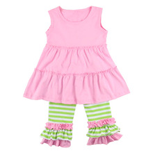 Kaiyo create your own brand boutique girl sets wholesale children's boutique clothing