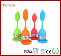 Adorable silicone leaf pattern Strainer Tea Filter Silicone Herbal Spice Diffuser Loose Leaf