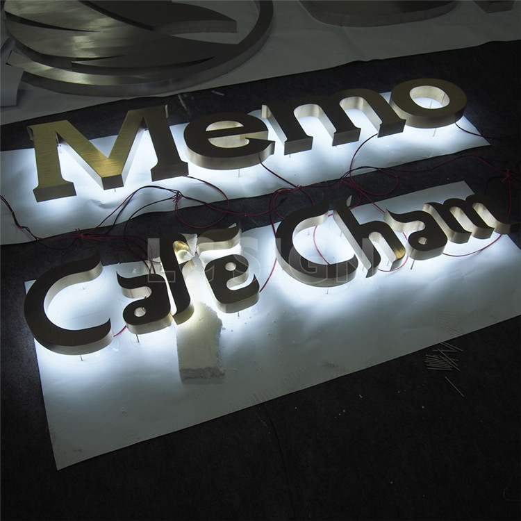 Custom made led backlit outdoor signage backlit hola letters for home use
