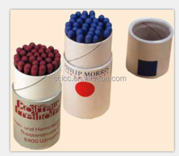 Ecofriendly paper tube colored matches gift match box