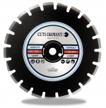 Diamond cutting blade for asphalt