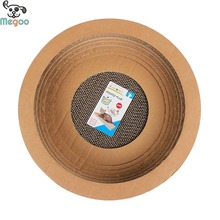 Bowl Shape Cardboard Cat Scratcher Corrugated Paper Pet Kitten Bed Toy