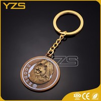 factory promotional metal dog key ring