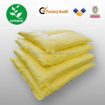 100%PP Industrial Chemical Absorber Pillow Yellow