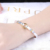 Simple 2 Colors Design Jewelry Woman Charm bracelet bangle Silver Plated Jewelry bangles