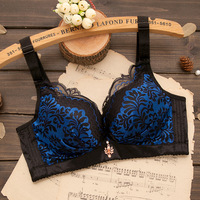 ShanTou Manufacturer Comfortable printing Ladies sexy bra without steel ring