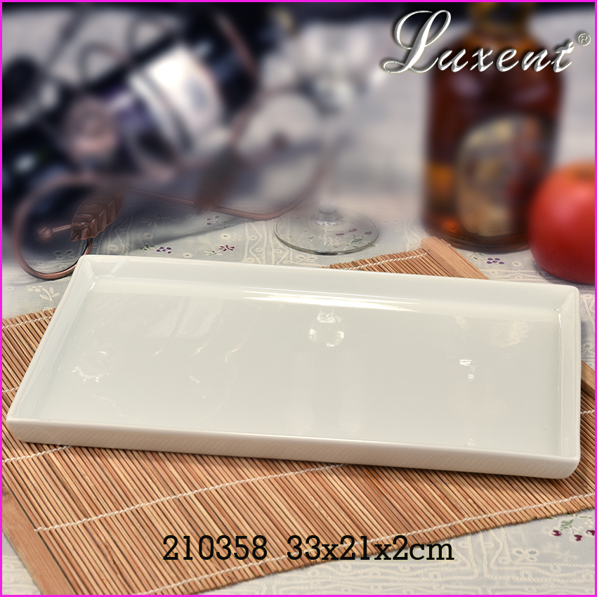 Hot sales hotel and restaurant used microwave safe ceramic plate/dish, porcelain plate