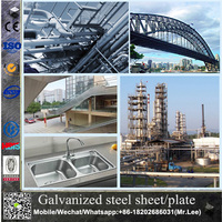 Galvanized corrugated steel plate and zinc roofing steel sheet