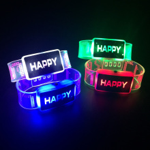 Event Favor 2017 New Happy Led Light Wristbands