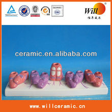 ceramic shoes decoration,mini shoe decorations,baby shoe decorations