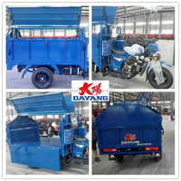 Promotion Strong Garbage 3 Wheel Motorcycle With Dustbin
