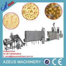Automatic puffed corn snack chips line with different flavor/popped corn snack food making machine