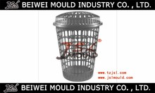 Injection plastic laundry washing clothes storage bin basket mould