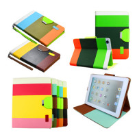 Hybrid PU Leather Wallet Flip Stand Case Skin Cover For iPad mini 2 3 4