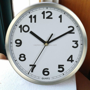 good quality sweep silent movement metal wall clock