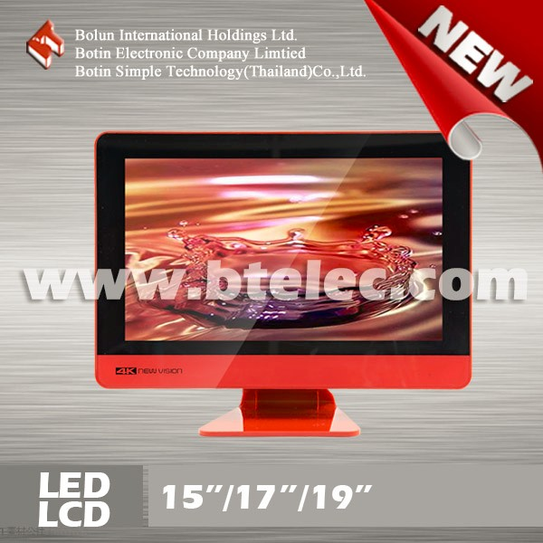 Double glass 15 inch white new china led small tv