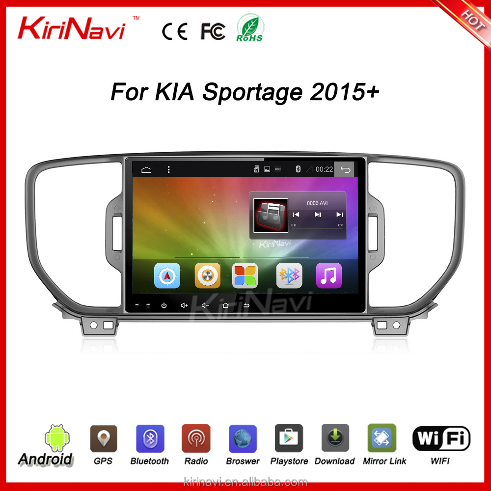 "Kirinavi WC-KS1007 10.2"" andriod 6.0 car dvd player for kia sportage 2015 2016 2017 car dvd gps navigation system wifi bluetooth"