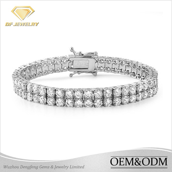Factory price wholesale shinning full cz diamond jewelry solid 925 sterling silver bracelet