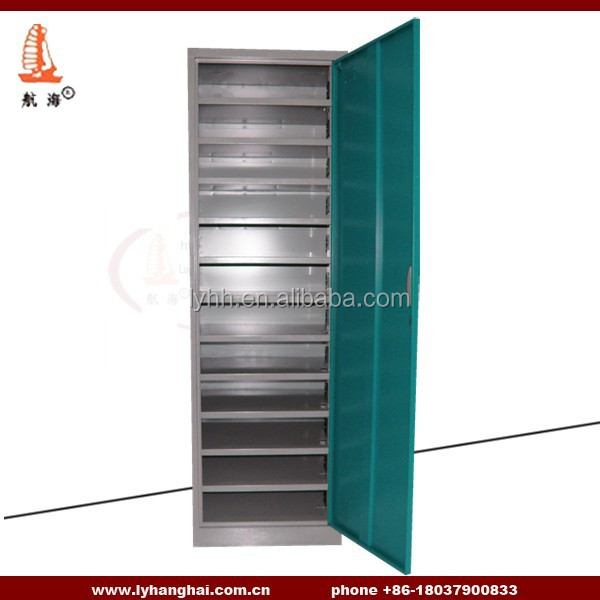 knock down steel electronic Safe locker 12 layers cell phone charge station lokcer With a Big Door