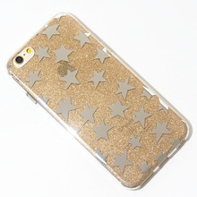 case for mobile phone,new glitter star phone case for iphone 6s