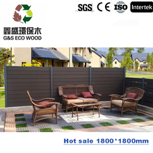 European Market Fencing Aluminum Frame Wood Plastic Composite Board Garden WPC Fence , Outdoor WPC Fencing