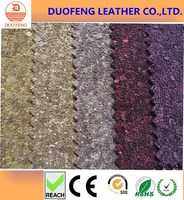 PVC glitter leather fabric for shoe making