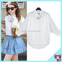 OEM white ladies formal skirt and blouse