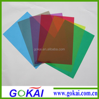 Colorful self adhesive pvc sheet for photo album