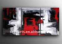 abstract canvas painting 3 panel design SJD-091