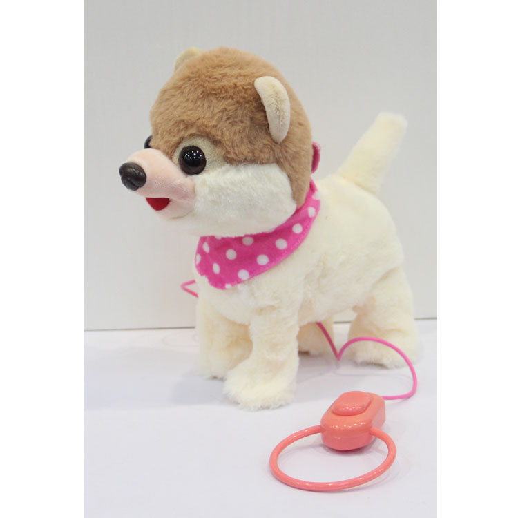 Hot sale electronic walking plush dog toy with <strong>music</strong> for kids