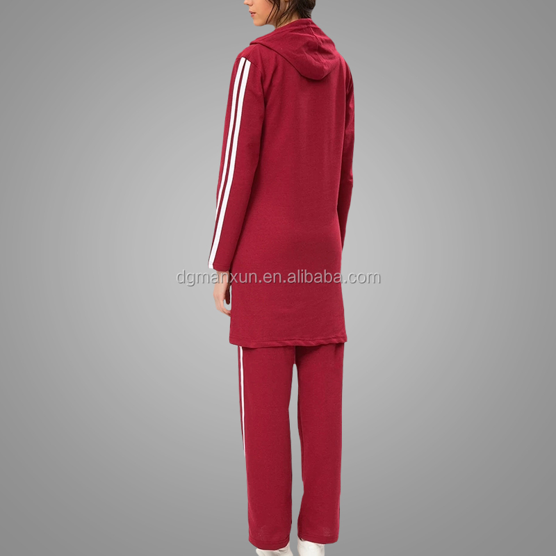 High quality sportswear simple tracksuit islamic clothing muslim abaya
