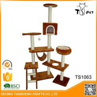 2016 New Sisal And Soft Plush pet house high quality cat tree