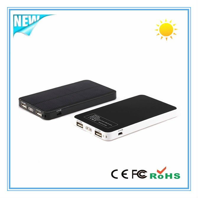 6000mAh Dual USB portable solar charger for iphone5