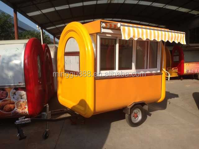 Custom food cart outdoor cart manufacturers in china fast - Remorque cuisine mobile ...