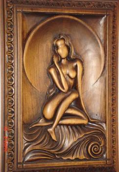 Woman in this frame. Decoration