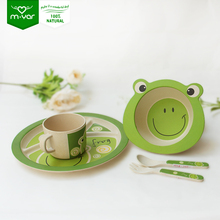 Best selling 100%natural non-toxic eco-friendly kids dinnerware set