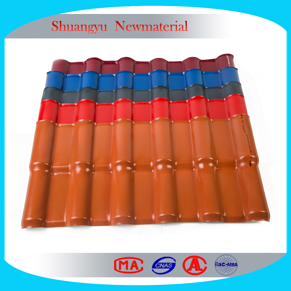 Colored APVC roofing tile/colored PVC corrugated sheet/colored pc hollow sheet sheet