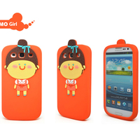3d cute cartoon animal shape mobile phone case cover for samsung I9300 N7100