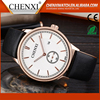 Gift For Men Wholesale Fashion Day/Date Japan Movtt Leather Band Wrist Watches