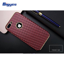Water cube combo stick pu leather tpu plating cell phone case for iPhone 6 7 8 Plus tpu accessory