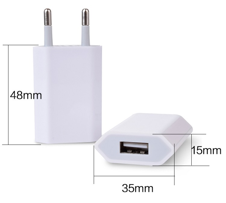 Promotional 5V 1A EU Plug USB Wall Charger AC Adapter For Smart Mobile Phone Charger