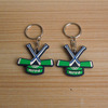 Promotional rubber ice hockey gifts pvc keychain