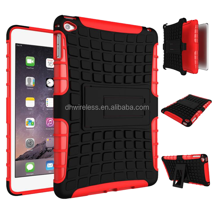 New arrival case for ipad mini 4 shockproof protective case cover for ipad mini 4 tyre lines phone shell