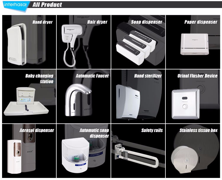 High speed jet electric 950W induction portable hand dryer supermarket