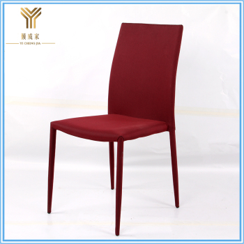 Low Price soft luxury modern fabric dining chairs