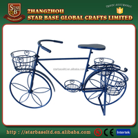 Decorative garden ornaments wrought iron bicycle plant stand