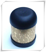 dome lid ,cylinder body with printing to match round base dice cups
